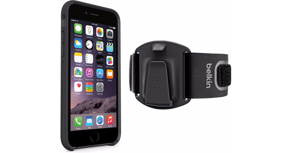 sports shoes 486e6 87b18 Belkin ClipFit Sports Armband Apple iPhone 6 / 6s Black