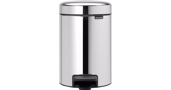 Brabantia NewIcon Pedal Trash Can 3 Liters Stainless Steel