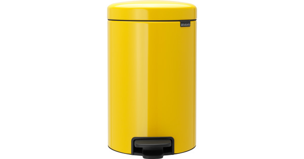 Pedaalemmer Brabantia 12 Liter.Brabantia Newicon Pedaalemmer 12 Liter Geel