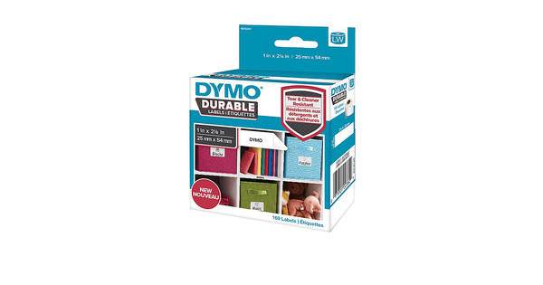 Dymo LW Durable Label White 160 Labels (25 mm x 54 mm)