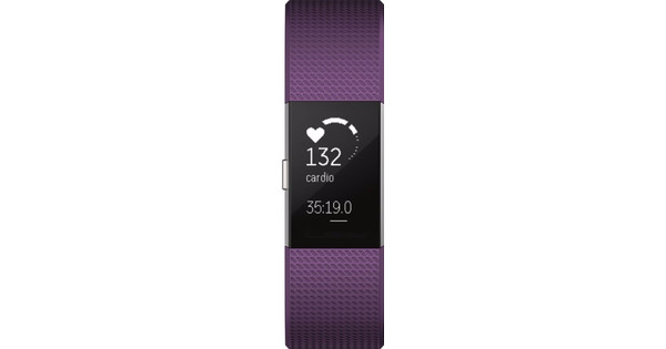 Fitbit Charge 2 Plum/Silver - L