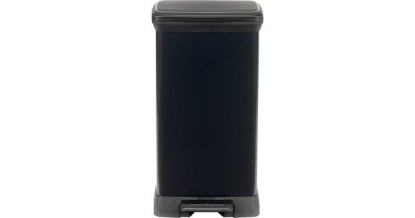Zwart Rvs Prullenbak.Curver Decobin 50 Liter Zwart Coolblue Voor 23 59u Morgen In Huis