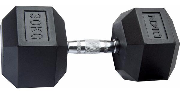 DKN Rubber Hex Dumbbell 30 kg