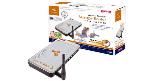 Sitecom Storage Router 54G Turbo voor externe HD.... gebruikt... Nieuw E 66 nu E 22
