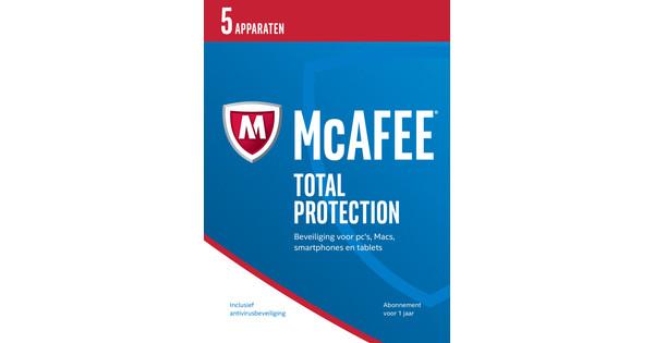 McAfee Total Protection 2017 1 jaar abonnement/ 5 apparaten