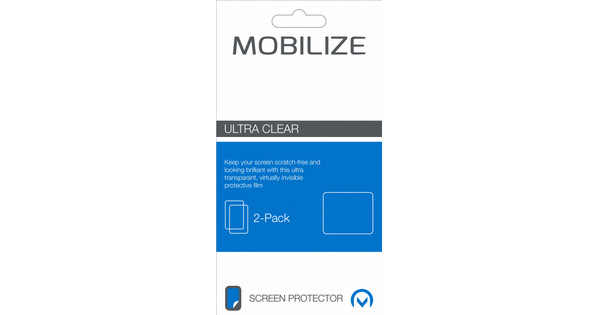 Mobilize Nokia 1 Screen Protector Plastic Duo Pack