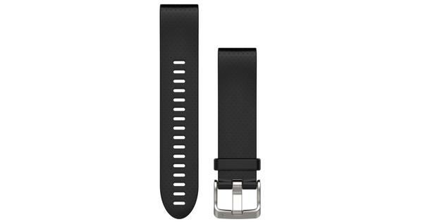 Garmin QuickFit 20mm Rubber Horlogeband Zwart