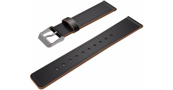 Just in Case Lederen Polsband Fitbit Charge 2 Zwart