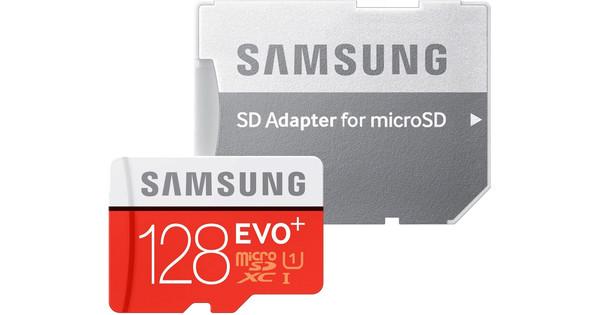 Samsung microSDXC Evo + 128 GB Class 10 + SD Adapter