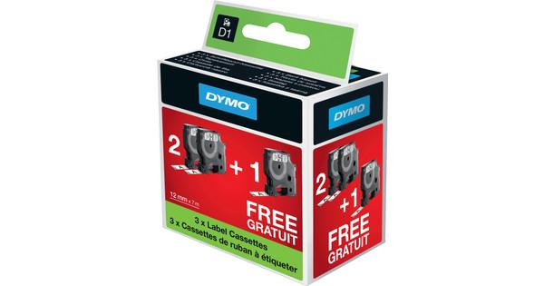 DYMO D1 2 + 1 bundle Black-White (12 mm x 7 m) (2 + 1 Free)