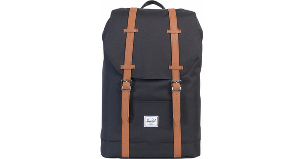 6bc136ae4d5 Herschel Retreat Mid-Volume Black   Tan Synthetic Leather - Coolblue -  Before 23 59