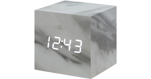 Gingko Cube Click Clock Marmer