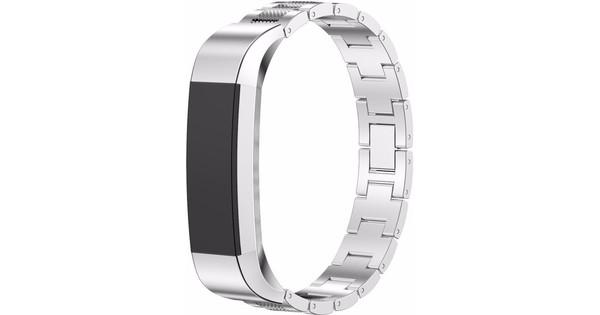 Just in Case Premium Mesh RVS Polsband Fitbit Alta Zilver