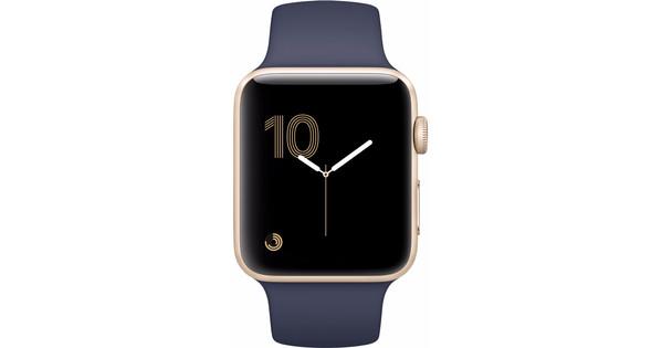Apple Watch Series 2 42mm Gold Aluminum Midnight Blue Sport Band