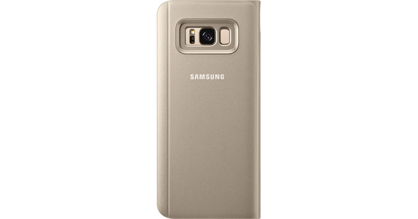 Samsung Galaxy S8 Plus Clear Stand View Cover Gold