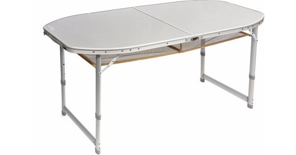 Bo-Camp Tafel Premium Ovaal Koffermodel 150x80 cm