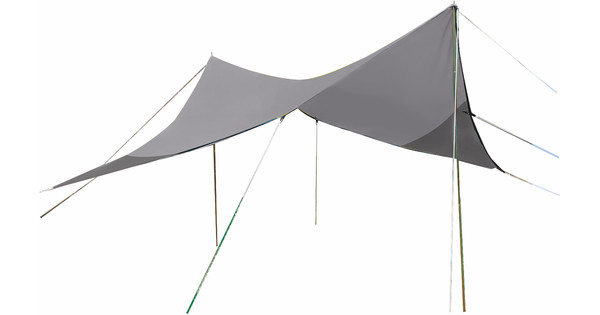 Bo-Camp Tarp Travel Ruit 4-Hoekig 4x4 Meter