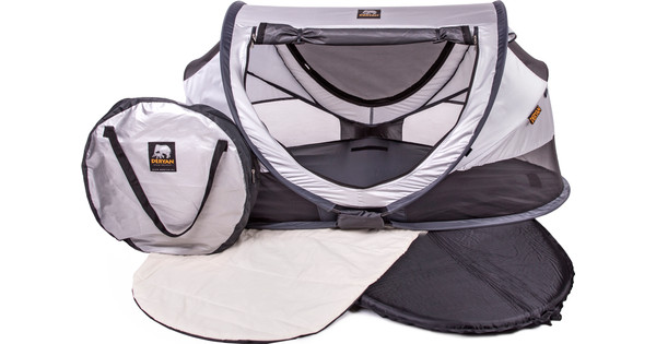Deryan Baby Luxe Campingbedje Khaki.Deryan Travel Cot Peuter Luxe Silver Coolblue Voor 23 59u