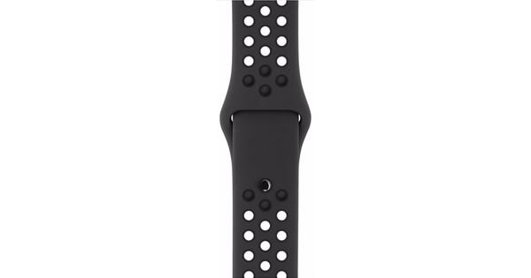 Apple Watch 38mm Siliconen Polsband Nike Sport Antraciet/Zwart