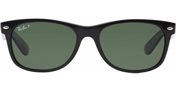 d4fb6189b86835 Ray-Ban New Wayfarer RB2132 52 Black   Crystal Green Polarized ...