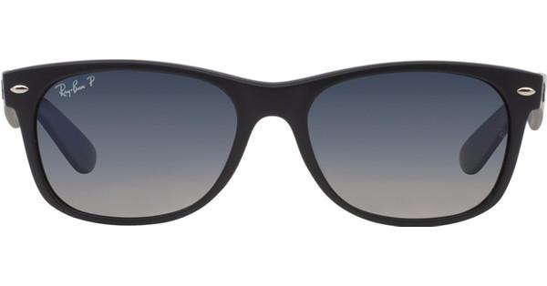 c6358315ddd715 ... sunglasses 67f62 e076b  norway ray ban new wayfarer rb2132 52 matte  black polarized blue gradient grey 58503 f3ebf