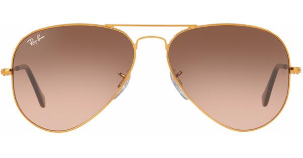 Ray-Ban Aviator RB3025/55 Shiny Light Bronze / Pink Gradient Brown