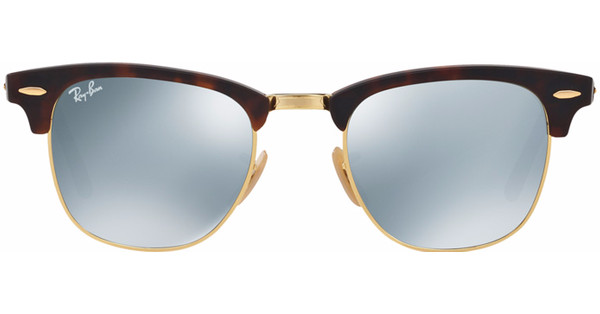 d25bd13faeffc4 Ray-Ban Clubmaster RB3016 51 Sand Havana Gold   Light Green Mirror Silver