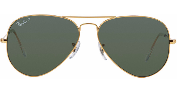04f4fc25aa7756 Ray-Ban Aviator RB3025 55 Gold   Crystal Green Polarized - Coolblue ...