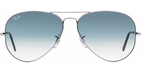 3f21fbbd04fce7 Ray-Ban Aviator RB3025 55 Silver   Crystal Gradient Light Blue ...