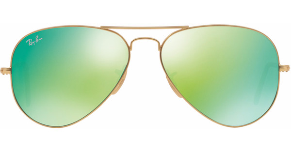 ce428efea75b81 Ray-Ban Aviator RB3025 58 Matte Gold   Crystal Green Mirror ...