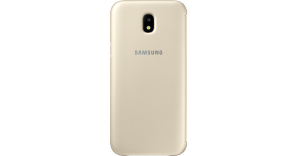 Samsung Galaxy J5 (2017) Wallet Book Case Gold