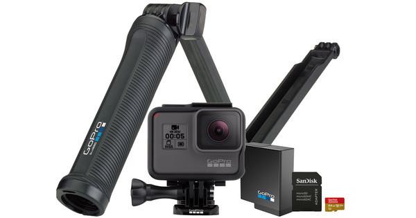 Starterskit - GoPro HERO 5 Black + Geheugen + Accu + GoPro 3way