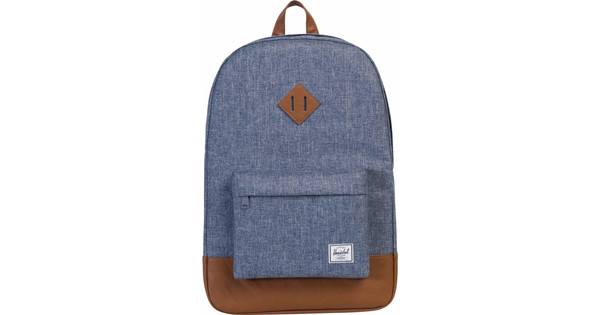 Herschel Heritage Dark Chambray Crosshatch / Tan Synthetic
