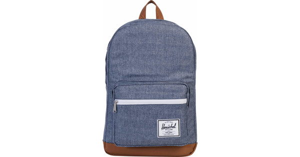 Herschel Pop Quiz Dark Chambray Crosshatch/Tan Leather