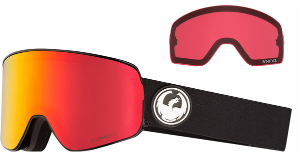 Dragon NFX2 Black + Luma Red Ion & Luma Rose Lenzen