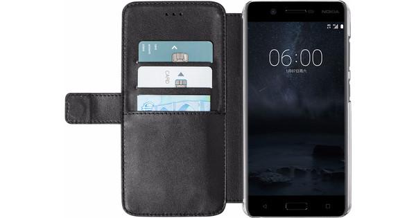 Azuri Wallet Magnetic Nokia 5 Book Case Black