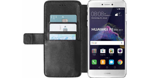 Azuri Wallet Magnetic Huawei P8 Lite (2017) Book Case Black