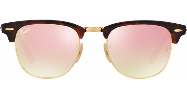2ba1295e4e3751 ... official store ray ban clubmaster rb3016 51 shiny havana copper flash  gradient 710dd 63537
