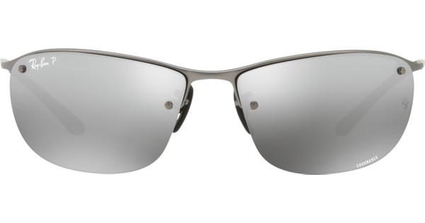 Ray-Ban Chromance RB3542 Matte Gun / Grey Mirror Silver Polarized