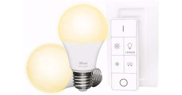 Philips Licht Afstandsbediening : Trust smart home white e27 duopack met afstandsbediening coolblue
