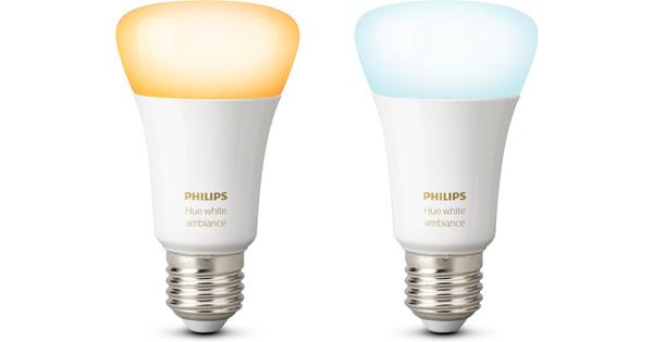 Hue Lampen Aanbieding : Philips hue white ambiance e27 duopack coolblue alles voor een