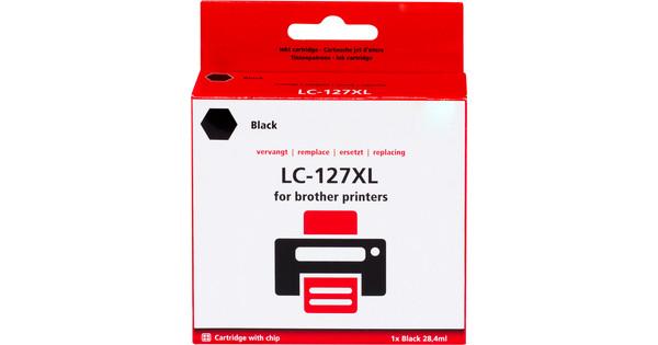 Huismerk LC-127XL Zwart voor Brother printers (LC-127XLBK)