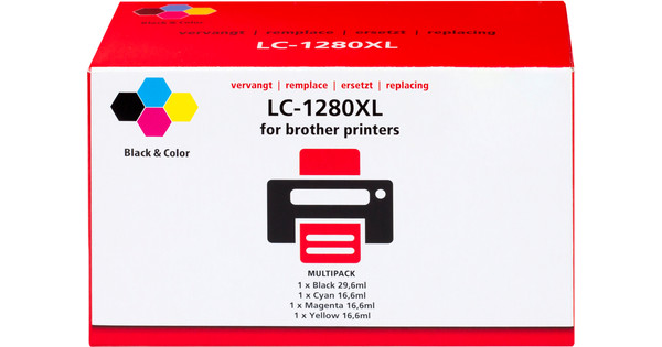 Own Brand LC-1280 XL 4-Color Pack for Brother Printers (LC-1280XLVALBP)