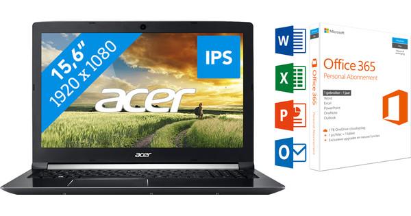 ACER ASPIRE 7 A715-71G-70GD + Office 365 1 jaar