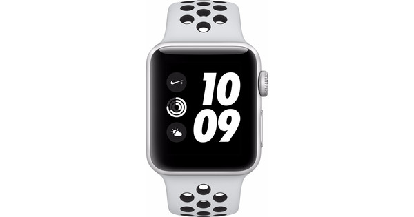 Apple Watch Series 3 Nike+ 42mm Zilver Aluminium/Zwart Sportband