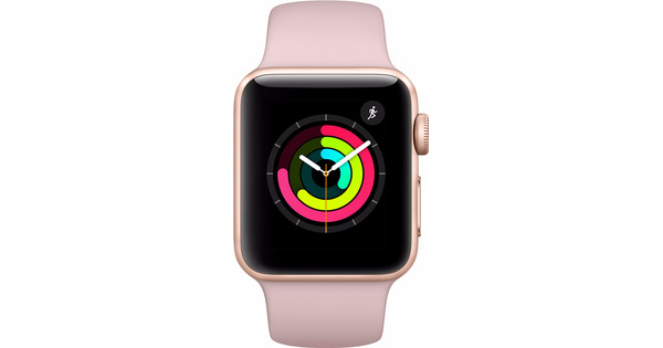 Apple Watch Series 3 38mm Gold Aluminum Pink Sport Band - Before 23 59,  delivered tomorrow 9360436bb158