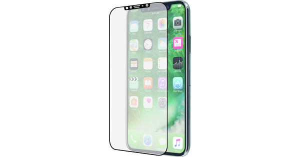 Azuri Apple iPhone X Screen Protector Curved Tempered Glass Black - Before 23:59, delivered tomorrow