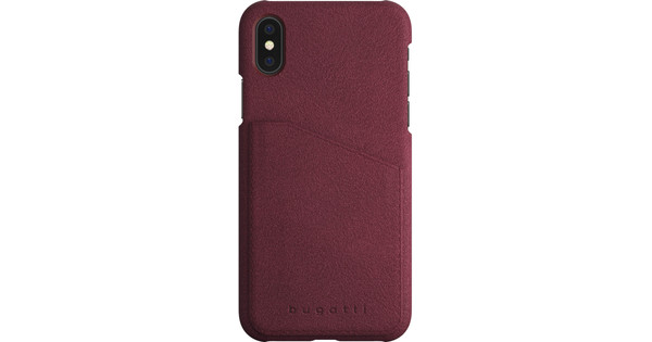Bugatti Londra Ultrasuede Apple iPhone X Back Cover Red