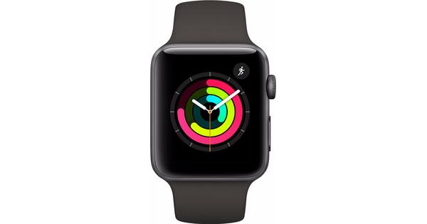 Apple Watch Series 3 42mm Space Gray Aluminium/Grijze Sportband