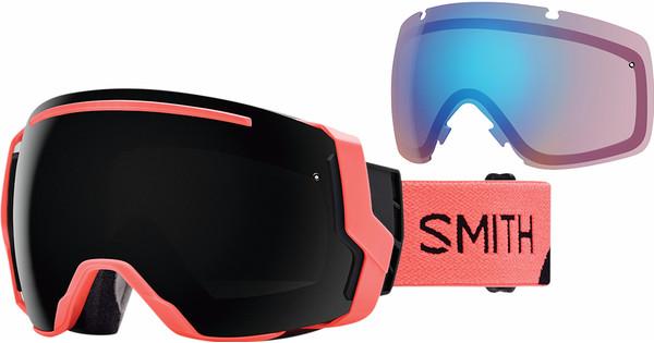 Smith I/O 7 Sunburst Split + Sun Black & Storm Rose Flash Lenzen